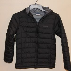 Black Columbia Puff Jacket with Hood